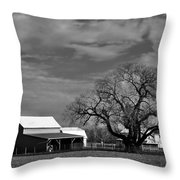 Moon Lit Farm Throw Pillow