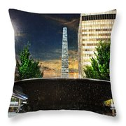 Moon Over Asheville Throw Pillow