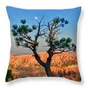 Moon Over Bryce Canyon Throw Pillow