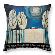 Moon Quote Poster Throw Pillow