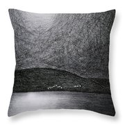 Moon Reflection On The Sea Throw Pillow