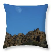 Moon Rise Joshua Tree Throw Pillow