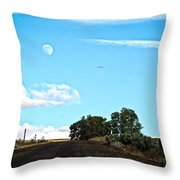 Moon Road Throw Pillow