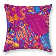 Moon Rock, Transmitted Light Micrograph Throw Pillow