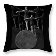 Moon Walking Throw Pillow