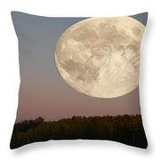 Moon Warrior Throw Pillow