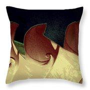 Moon Waves Throw Pillow
