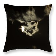 Moonglow Reveals Face In The Cloud Throw Pillow