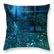 Moonlight In The Garden Throw Pillow