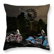 Moonlight Indian Chief Throw Pillow