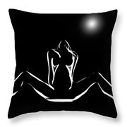 Moonlight Romance Throw Pillow