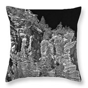 Moonlit Cliffs Throw Pillow