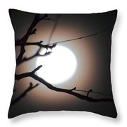 Moonlit Pink Throw Pillow