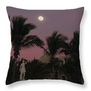Moonlit Resort Throw Pillow