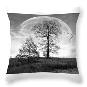 Moonlit Silhouette Throw Pillow
