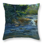 Moonrise On The River Throw Pillow