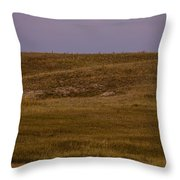 Moonrise Over Badlands South Dakota Throw Pillow