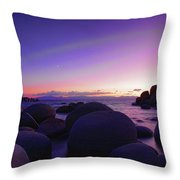 Moonrise Over Tahoe Throw Pillow