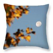 Moonset Morning Throw Pillow