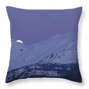 Moonset Throw Pillow by Yuichi Takasaka