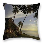 Moorea, Society Islands Throw Pillow