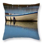 Moored And Ready Throw Pillow