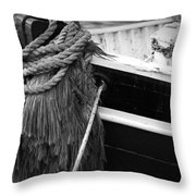Moored Throw Pillow by Eric Gendron