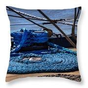Moored Ship Throw Pillow