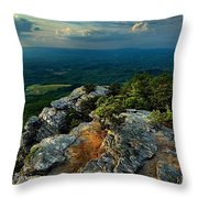 Moore's Knob Sunset Throw Pillow