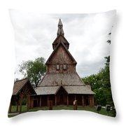 Moorhead Stave Church 1 Throw Pillow