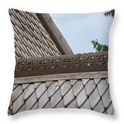 Moorhead Stave Church 10 Throw Pillow