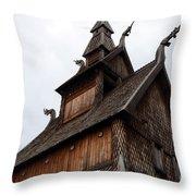 Moorhead Stave Church 11 Throw Pillow