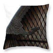 Moorhead Stave Church 12 Throw Pillow