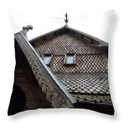 Moorhead Stave Church 13 Throw Pillow