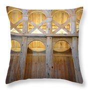 Moorhead Stave Church 14 Throw Pillow