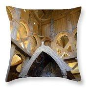 Moorhead Stave Church 17 Throw Pillow