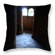 Moorhead Stave Church 23 Throw Pillow
