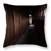 Moorhead Stave Church 24 Throw Pillow