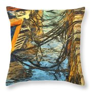 Moorings Throw Pillow