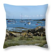 Moorings Iles Chausey Throw Pillow