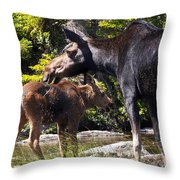 Moose Brunch Throw Pillow