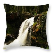 Moose Falls Throw Pillow
