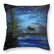 Moose Pond Throw Pillow