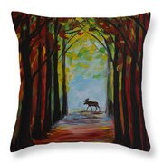 Moose Territory Throw Pillow