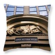 Morbid Arch Decoration. Throw Pillow