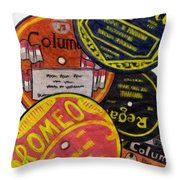 More Old Record Labels  Throw Pillow