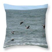 More Pelicans Throw Pillow