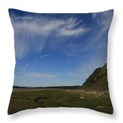 Morecambe Bay Cirrus Throw Pillow