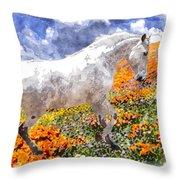 Morisco In Spring Flowers Throw Pillow