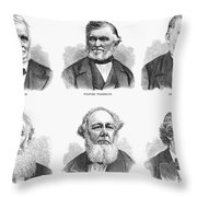 Mormon Apostles, 1877 Throw Pillow